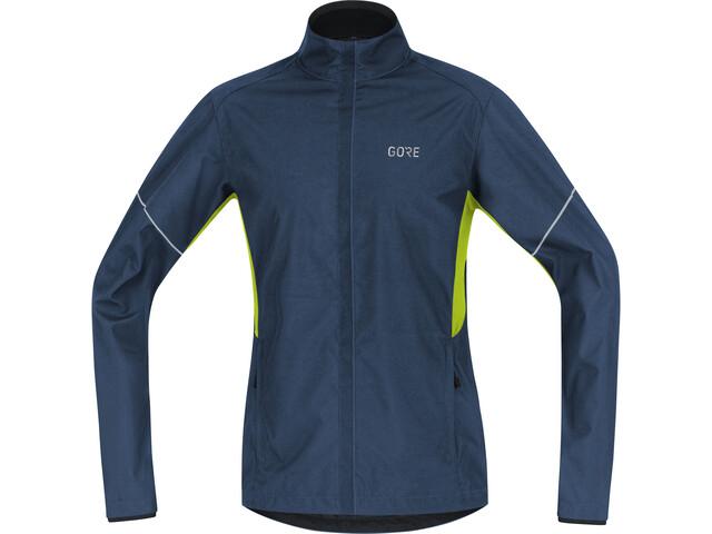GORE WEAR R3 Partial Gore Windstopper Kurtka do biegania Mężczyźni zielony/niebieski